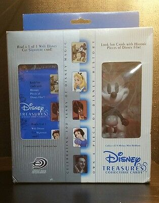 4 Pack Disney Treasures Collectible Cards & Steamboat Willie Mickey Mouse Bobber