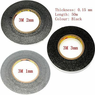 Lots of 1mm+2mm+3mm Black 3M Sticker Double Sided Tape Adhesive for cell phone