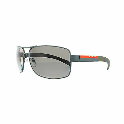 New Prada Sport Sunglasses PS54IS UFI0A7 Green Rubber Grey Gradient Fast Ship
