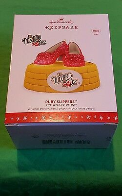 Hallmark 2016 Christmas Ornament THE WIZARD OF OZ RUBY SLIPPERS Ornament With