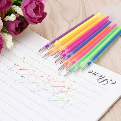 12pcs/set Gel Ink Pen Refills 0.38mm Novelty Marker Stationery School Supplies
