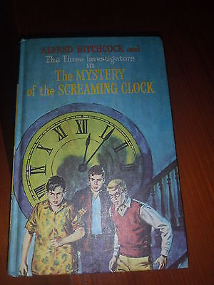 Three Investigators Mystery of the Screaming clock. Alfred Hitchcock HB