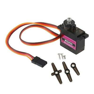 1PCS MG90S Micro Metal Gear 9g Servo for RC Plane Helicopter Boat Car 4.8V 6V