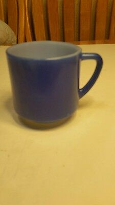 Federal glass coffee cup