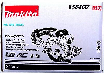 "New Makita XSS03Z Cordless  5 3/8"" Trim Circular Saw 18 Volt W/ Blade 18V LXT"