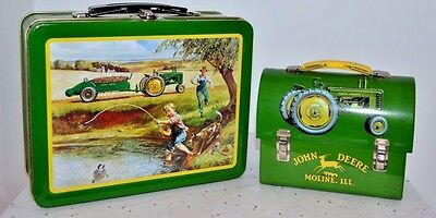 """JOHN DEERE """"Turtle Trouble"""" Lunchbox & Mini Tractor Lunch Pail, Licensed"""