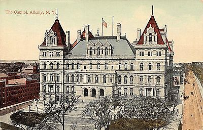 Postcard NY Albany The Capitol Building Early 1900s Vintage New York PC