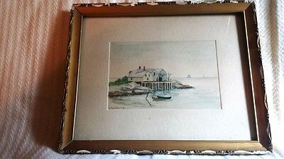 Vintage Maine Watercolor Painting Coastal Scene – J. Salsbury