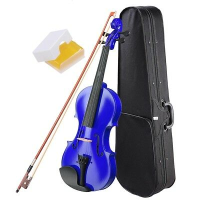Wooden Full Size 4/4 Violin  Fiddle Artist Acoustic Beginners w/ Case Bow Rosin