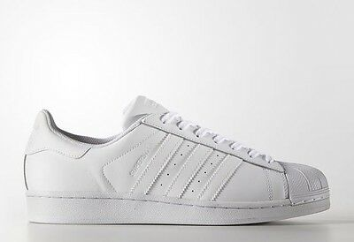 best service 939c9 76b9f ADIDAS SUPERSTAR ALL Triple Running White B27136 Shell Toes Toe Size 8-13