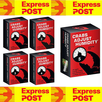 Cards Against Humanity Expansion Crabs Adjust humidity 12345 Expansion Bundle