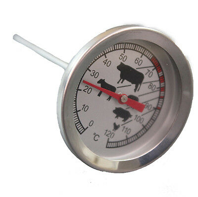 Grillthermometer Bratenthermometer Fleisch Thermometer Grill 12xØ4cm Edelstahl