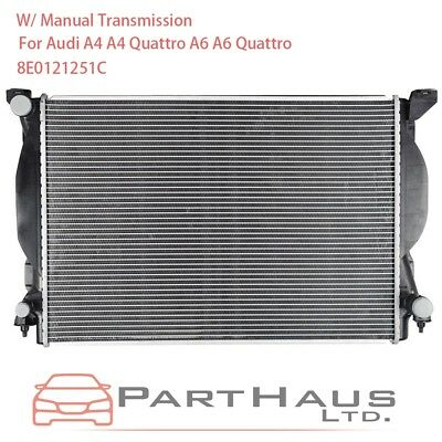Radiator For 02-09 Audi A4 Quattro A4 V6 3.0L 3.2L Fast Shipping Great Quality