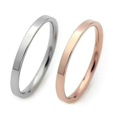 12x Rose gold Silver 3mm Band Men Women Simple Stainless Steel Wedding Rings
