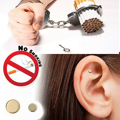 Magnetic Ear Acupressure Quit Stop Smoking Cigarettes Ear Magnet Pack of 2