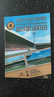 Boston United V Dunstable 1981-82