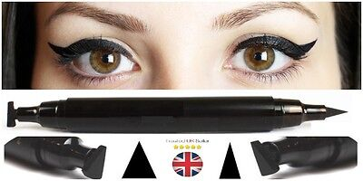 Winged Wing Eyeliner Stamp (Thin) OR (Thick) Black Waterproof, Fashion, Vamp, UK