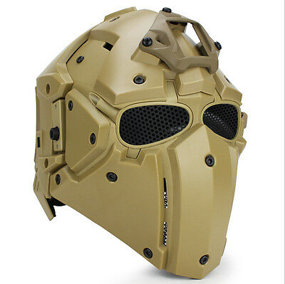 Tactical Protective Helmet Airsoft Paintball CF Game Full Face Mask