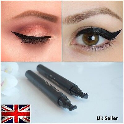Winged Wing Eyeliner Stamp (Thin) OR (Thick) Black Waterproof, Fashion, Vamp UK
