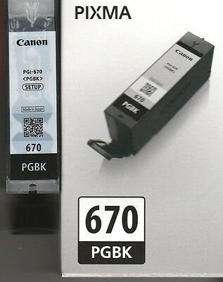 Genuine Canon 670 Pgbk Black Used Empty Ink Cartridge Ready For Refilling
