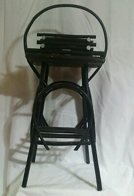 """Adirondack Style Wood TWIG STAND TABLE with Cabin Frame 19"""" High"""