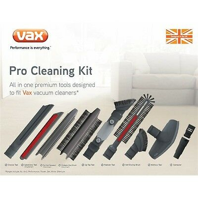Vax Pro Vacuum Clean Accessory Kit Tool Adapter Attachment Universal 9 Pce Vpck