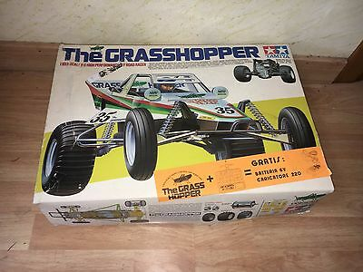 TAMIYA GRASSHOPPER ASSEMBLED IN BOX 1:10 Scala RC OFF ROAD BUGGY VIntage