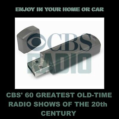 Sixty Greatest Old Time Radio Shows Of 20Th Century.  For Your Car Or Home!