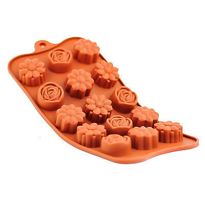 Silicone Chocolate Mould Tray Round Icing - Craft Cake Jelly Baking Ice Flower