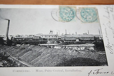 CPA Commentry Allier Mine, Puits Central, installations  1904 Photo Couilbeau