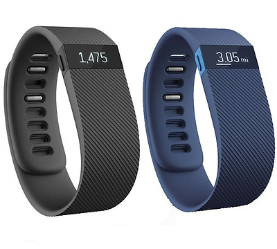 Fitbit Charge Wireless Activity and Sleep Tracker Large Black Blue Claret small