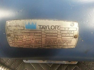 1.5HP Taylor Ice Cream Beater Motor Model Part Number 2152233