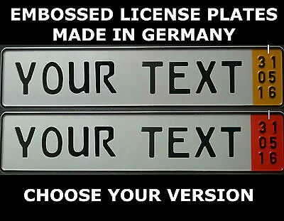 German Germany Euro European License Plate Embossed Alu Export Zoll Temporary