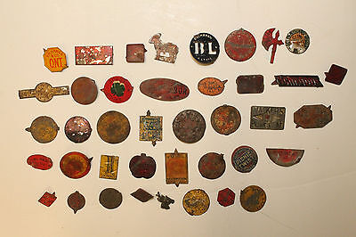Lot of 40 Vintage Antique Tobacco Tags Tobacciana Good Luck Smoke Skinner Lot10
