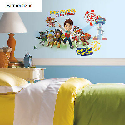 Paw Patrol Wall Graphic Peel and Stick Giant Decals NEW