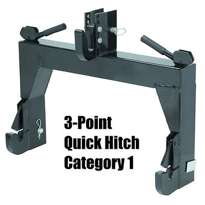 3-Point Quick Hitch Category 1 Farming Tractor Implement Attachments Hook Clevis