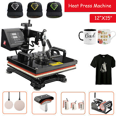 "12"" x 10"" Swing Away Digital Heat Press Transfer Sublimation Machine T-shirt"