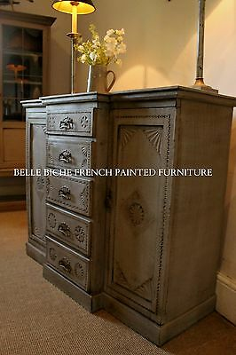 Outstanding C.19th Arts and Crafts Hand Crafted Break Front Sideboard
