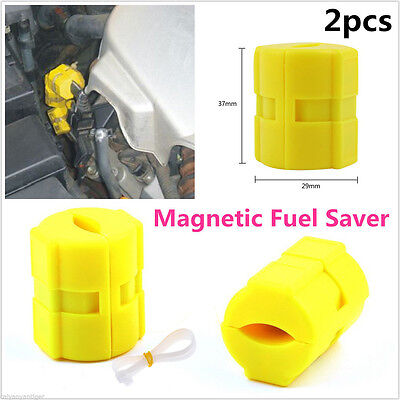 2pcs Magnetic Fuel Saver for Vehicle Gas Universal Reduce  Emission New Useful