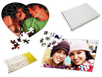 Customised Jigsaw Puzzle * A3 A4 Heart * Your Own Photo Picture Custom Gift