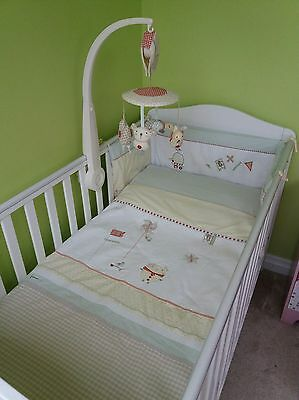 Mamas & Papas Whirligig Bedding & Mobile for Cot/ Cotbed Unisex Baby Nursery Set