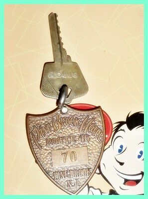 Pine Brook Motel Route 46 New Jersey vintage Hotel key fob #70