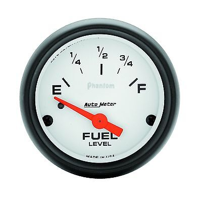 "AUTOMETER PHANTOM ELECTRIC UNIVERSAL GM CHEVY FUEL LEVEL GAUGE 2-1/16"" (52mm)"