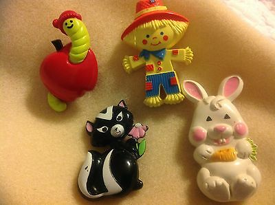 Avon Lot of 4 Vintage Perfume Glace Pins from the 1970's