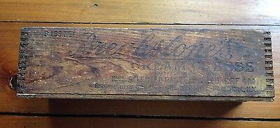 Vintage Breakstone Dovetailed Wood Cream Cheese Box-Cow Logo