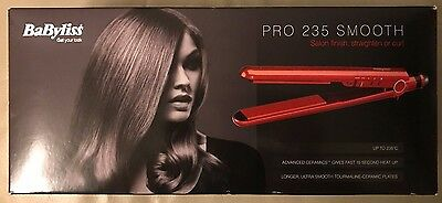 Babyliss Pro 235 Styler Salon Smooth Hair Straighteners 2398BU New, Sealed