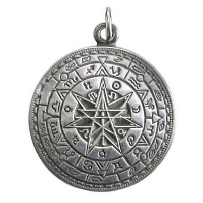 NEW Talisman of Protection Cast Pewter Amulet Pentagram Pendant w/ Cord US Made!