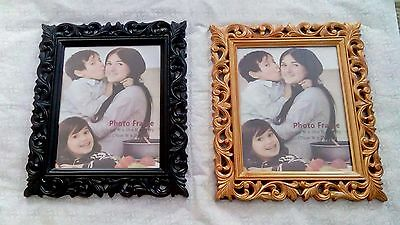8x10 Gold & Black Picture Frames Retro Vintage  look Photo Frame + Free Gift