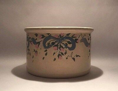 Robinson Ransbottom 1 Qt Low Jar Crock Hand Painted