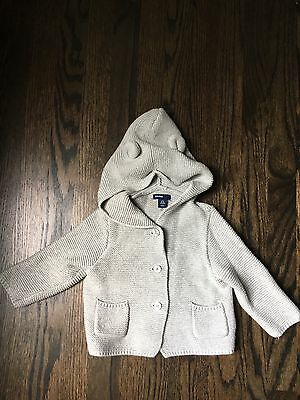 Gap Baby Bear Sweater, Gray, 6-12 Months